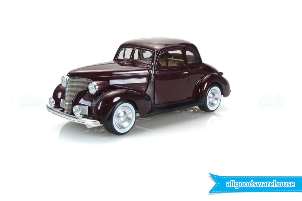 1939 chevrolet master coupe classic maroon 1 24 scale die cast model hobby car 661732732470 ebay. Black Bedroom Furniture Sets. Home Design Ideas