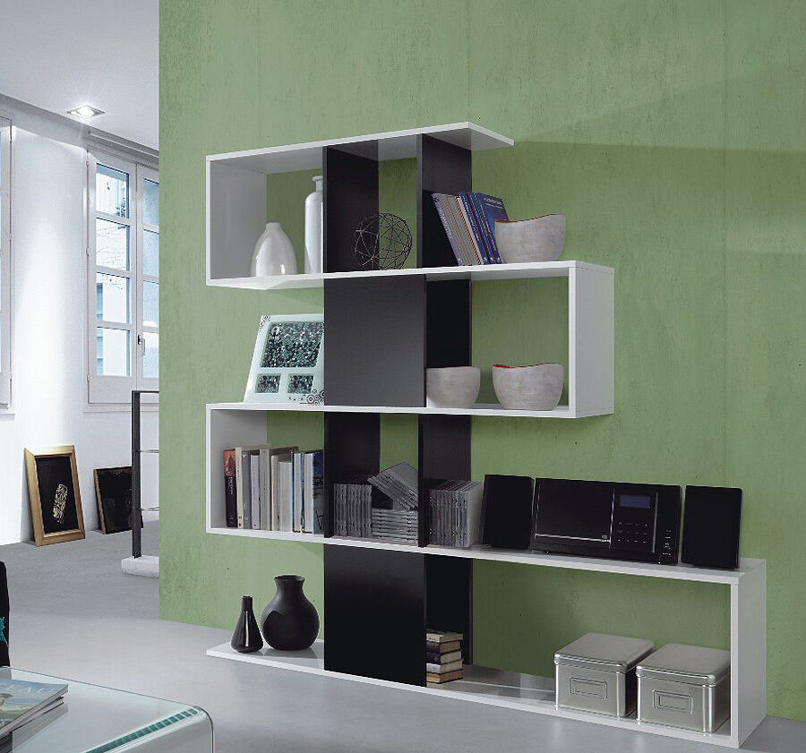 Living Room Display Storage: Living Room Display Unit Large Cube Shelves White Modern