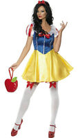 Smiffy's Fever SNOW WHITE Fairytale Fancy Dress Costume  - Size L (16-18)