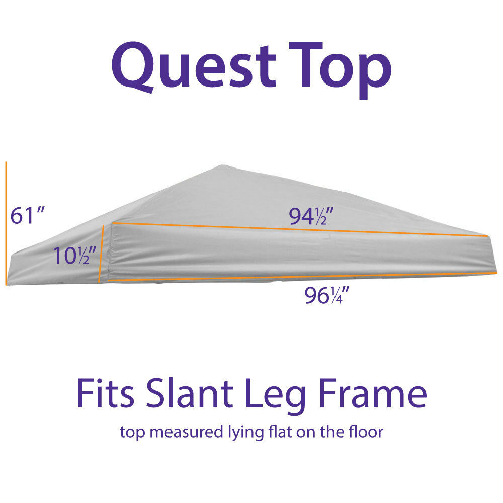Quick Shade 10x10 Canopy Replacement : Outdoor ez pop up canopy replacement top quest