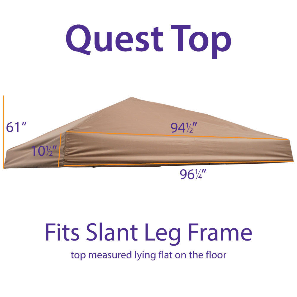 Outdoor Ez Pop Up 10x10 Canopy Replacement Top Quest