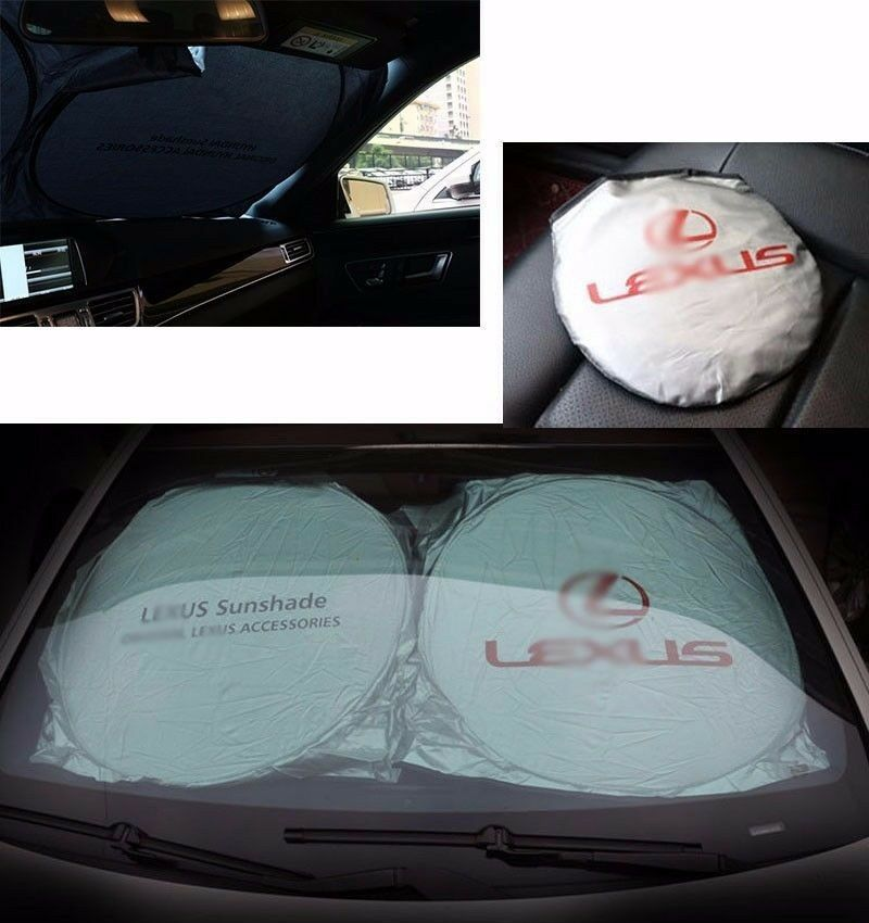 car window front rear foldable sun shade shield cover. Black Bedroom Furniture Sets. Home Design Ideas