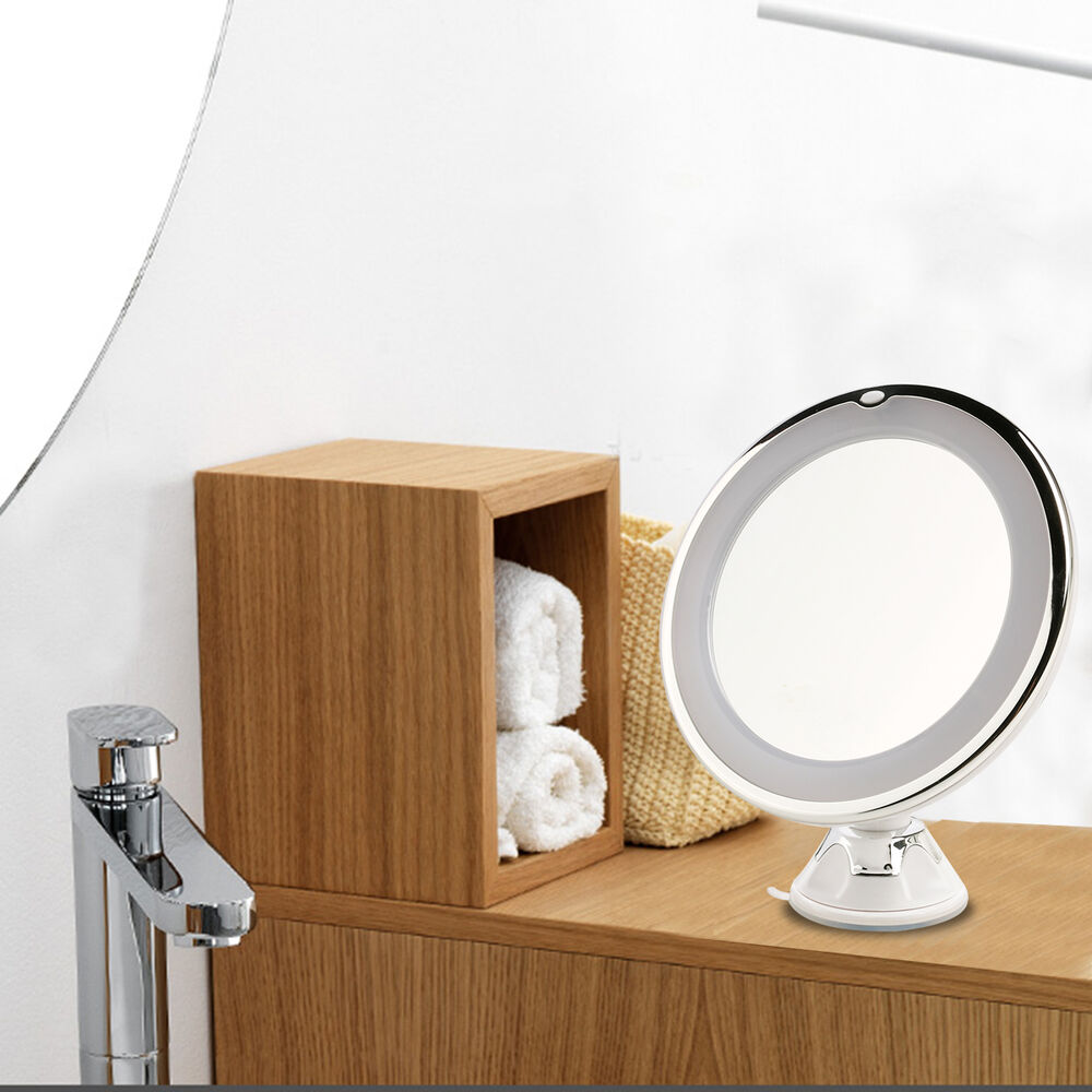 Wall Mounted Makeup Lights : LED Adjustable Tabletop Wall Mounted Lighted Cosmetic Makeup Mirror 7X Magnifier eBay