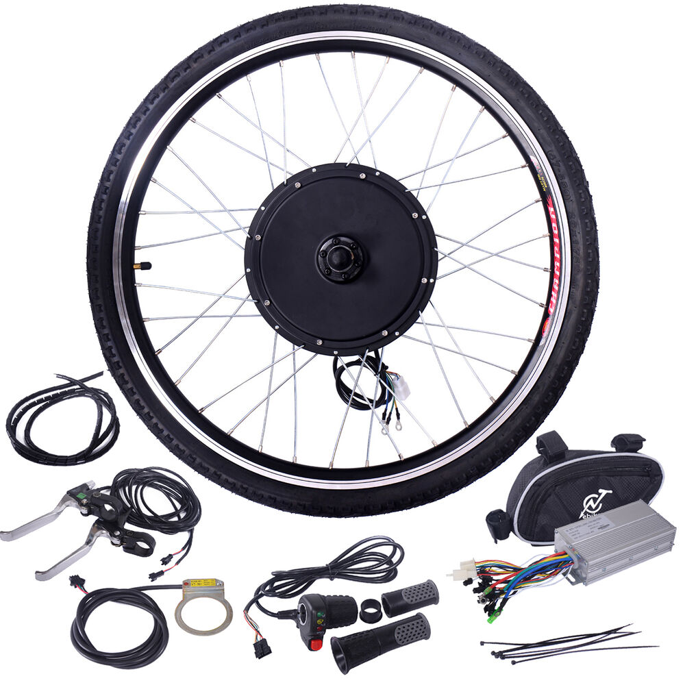 "26"" 48V 1000W Front Wheel Electric Bicycle Conversion Kit"