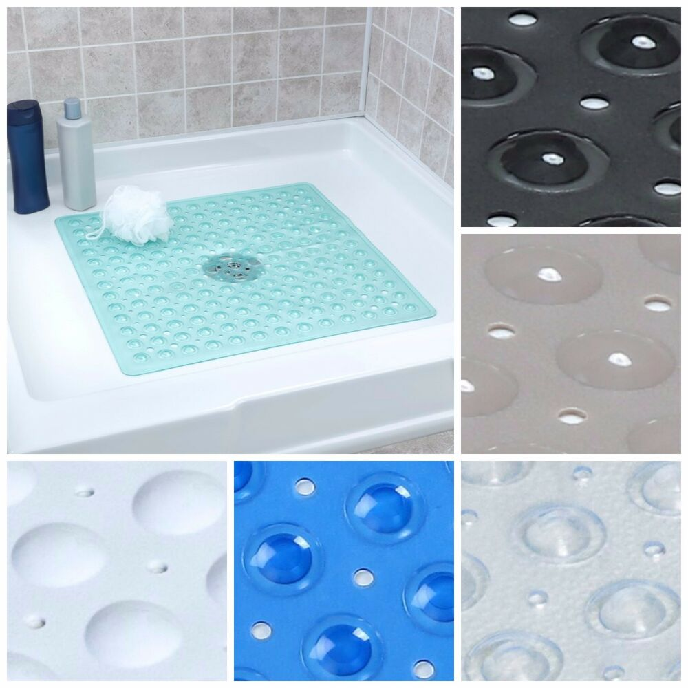 Large Non Slip Shower Mat With Drain Holes Slipx