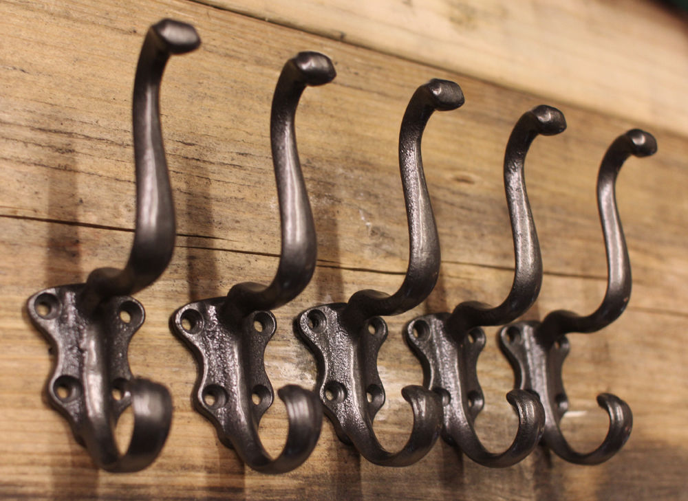 5 X Victorian Cast Iron Hat Amp Coat Hooks Antique Vintage