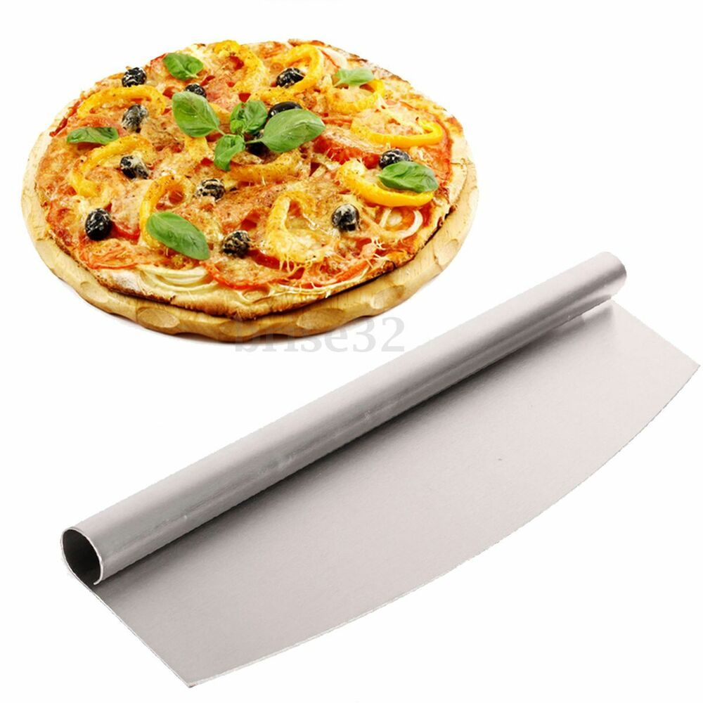Stainless Steel Pizza Cutter 14 Inch Blade Rocker Style