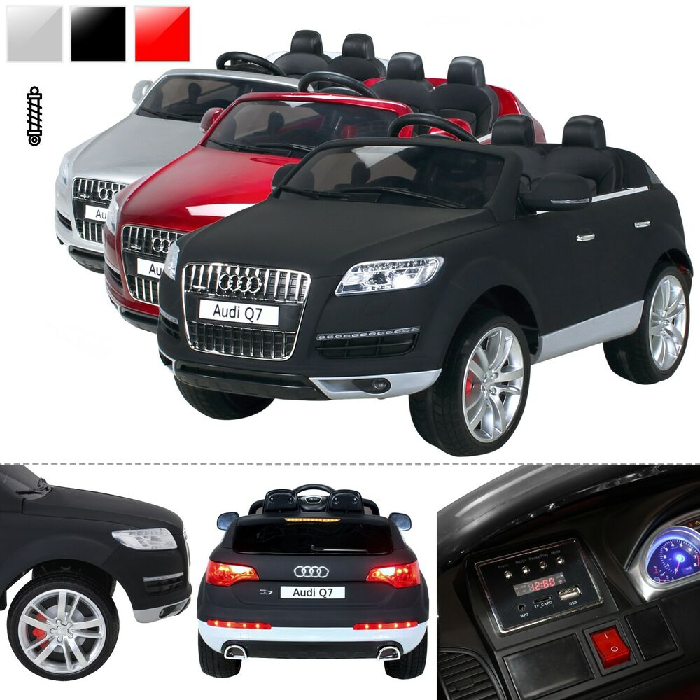 kinder elektroauto audi q7 suv kinderauto elektrofahrzeug. Black Bedroom Furniture Sets. Home Design Ideas