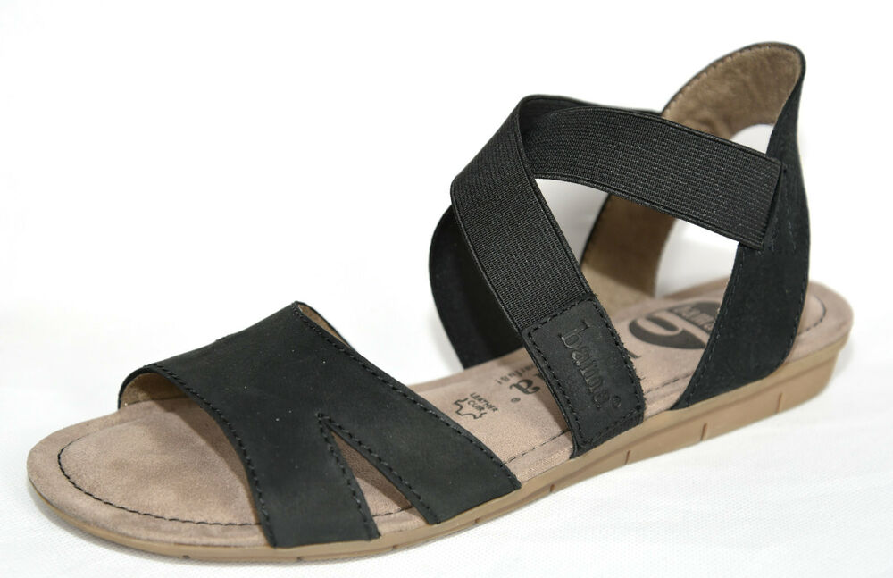 bama damen leder schuhe sandalen sandaletten gr 38 schwarz 28681 blau 28692 ebay. Black Bedroom Furniture Sets. Home Design Ideas
