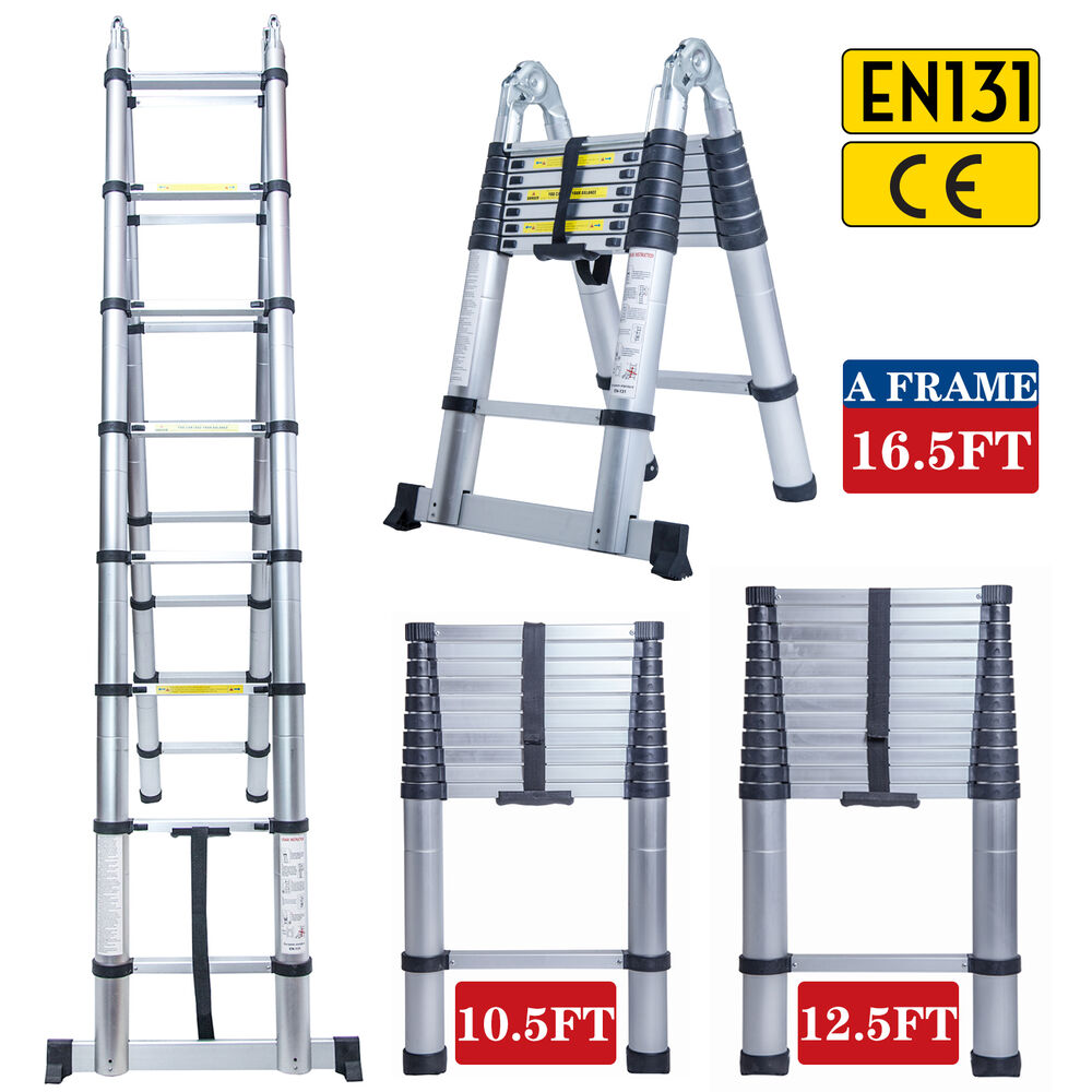 Aluminum Telescopic Ladder : Ft aluminum multi purpose telescopic