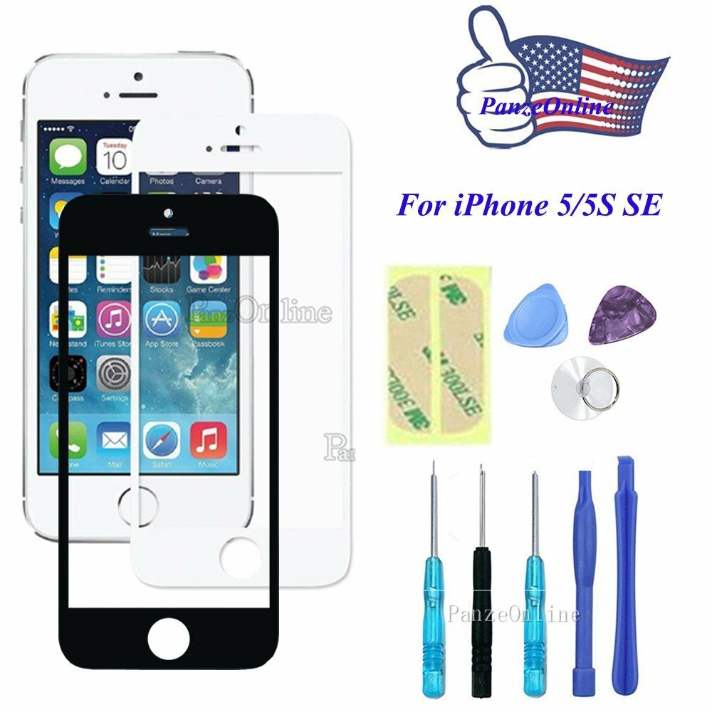 iphone 5s screen kit front outer screen glass lens replacement for iphone 5 5s 14861
