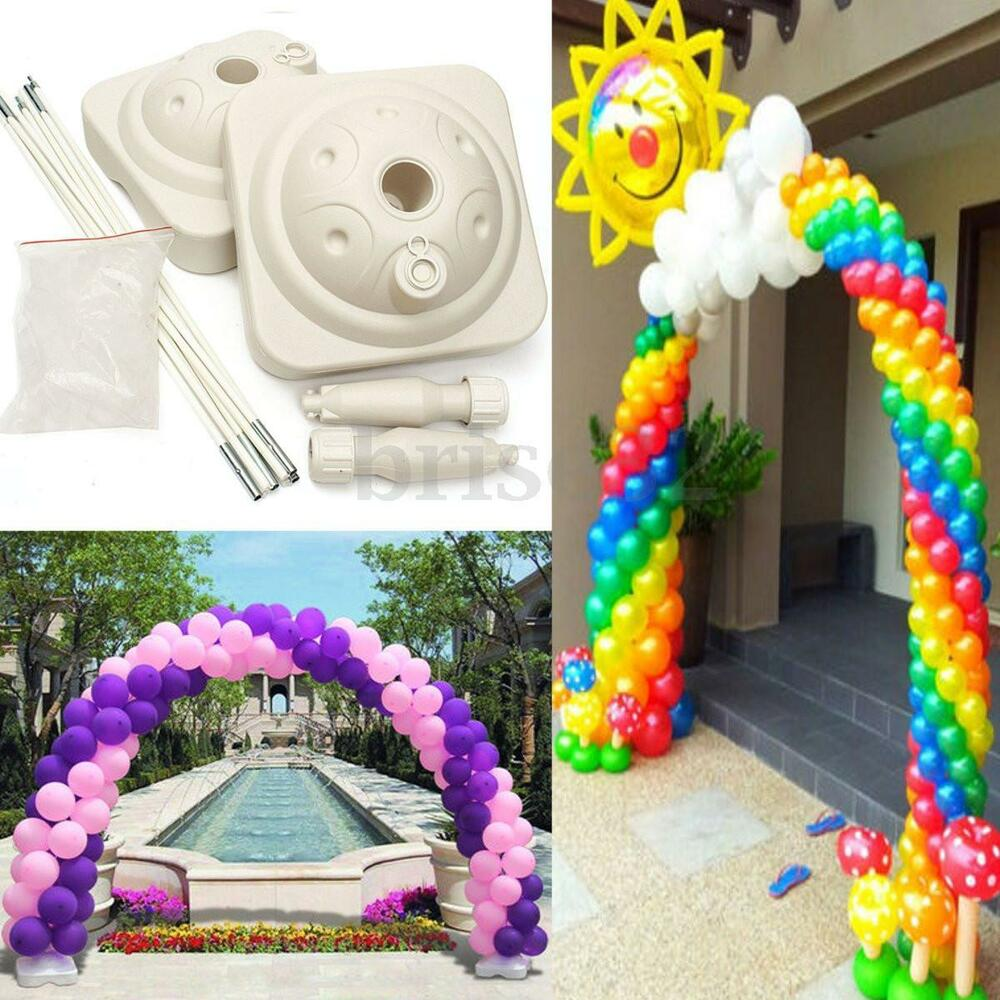 1 set balloon arch column base water balloon arch kit