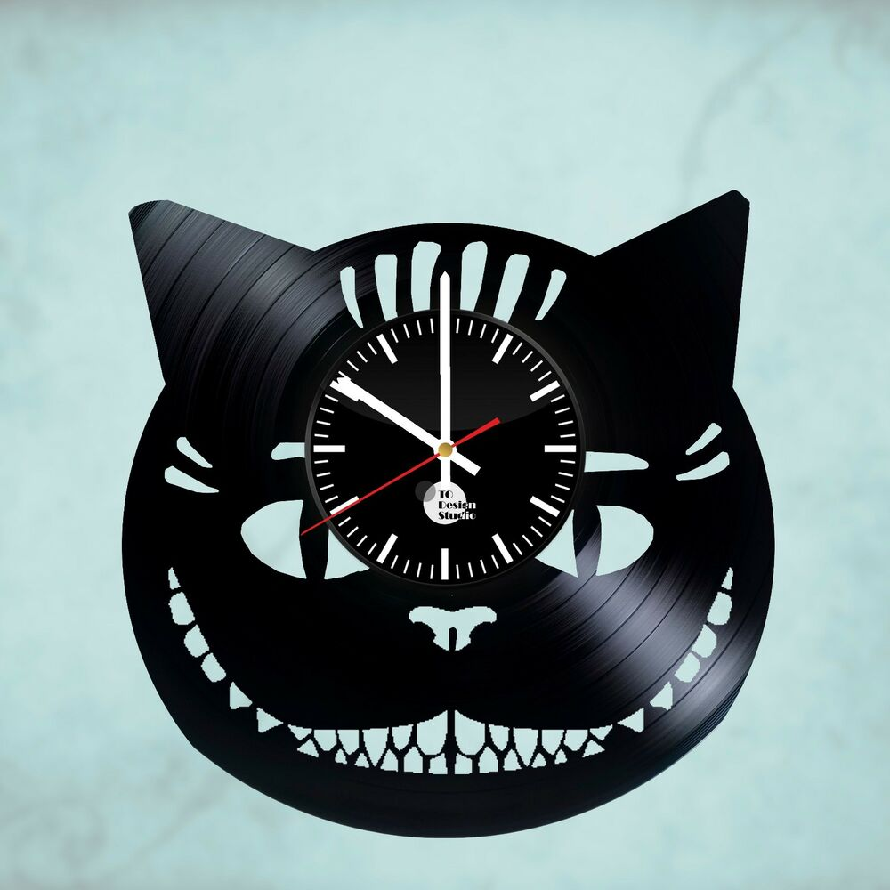 Alice in wonderland cheshire cat handmade vinyl record for Vinyl records decorations for wall