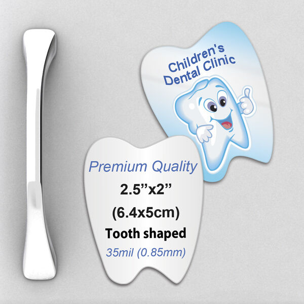 1000 Custom 35mil Thick Tooth Shaped Fridge Magnets With Your Design