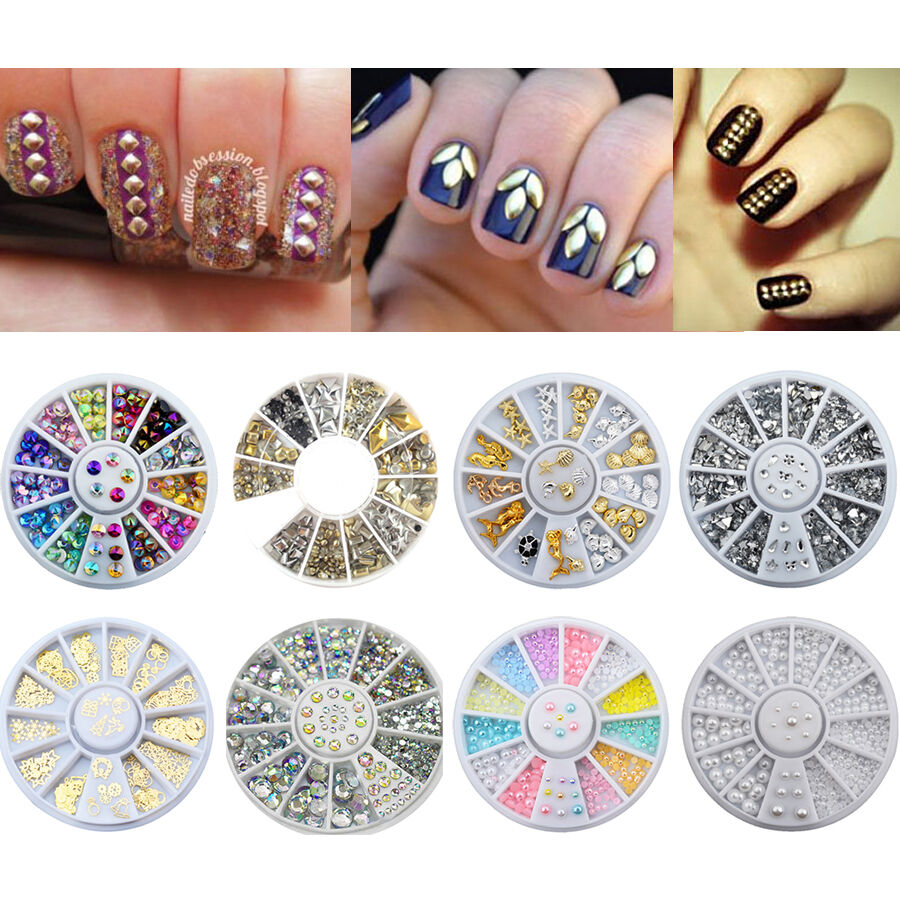 Nail Art Accessories Crystal Rhinestone Christmas Wheel