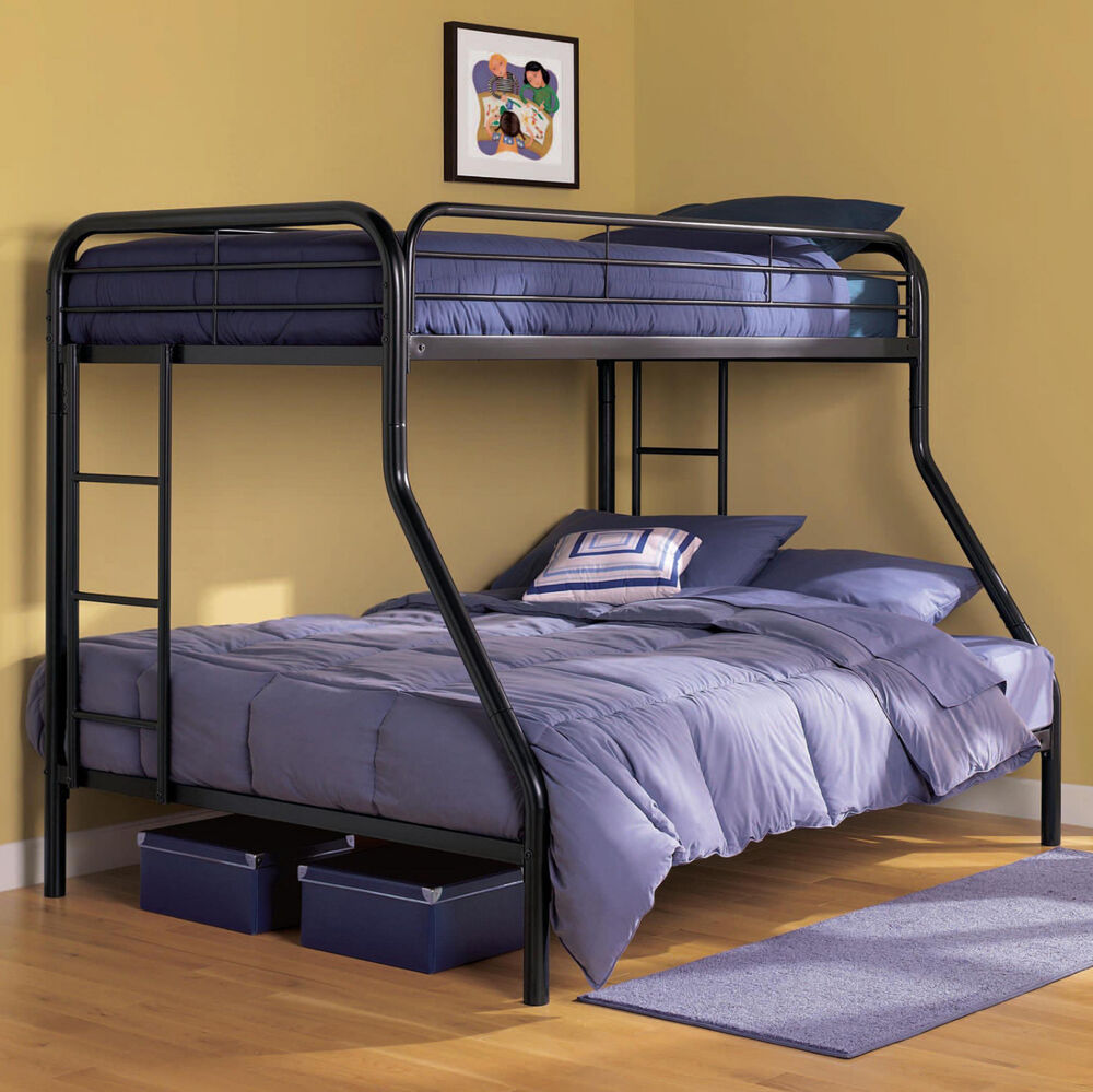 Bunk Beds With Twin Over Full Cool For Adults Kids Black