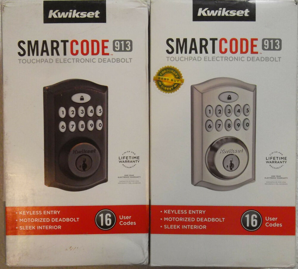Kwikset Smartcode Deadbolt Keyless Entry 913 Nickel Bronze