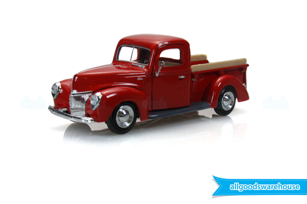 1940 ford pickup truck red 1 24 scale american classic die cast model car ebay. Black Bedroom Furniture Sets. Home Design Ideas