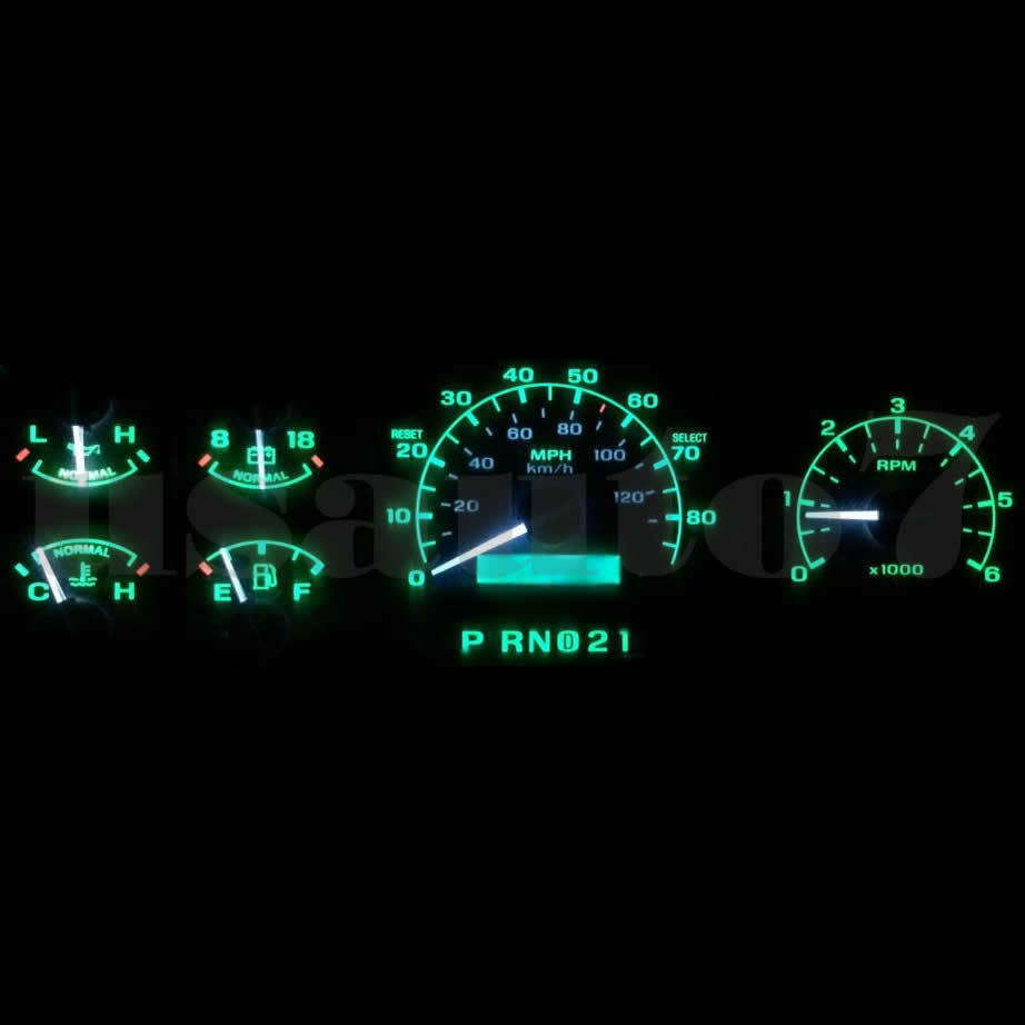 Dash Instrument Cluster Gauge Green Led Light Kit Fits 92
