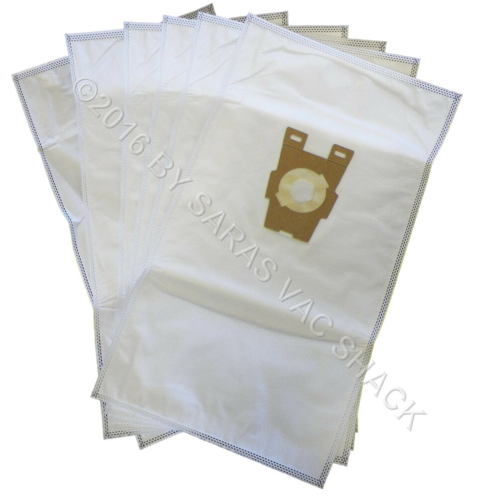6 Universal Hepa Cloth Bags For Kirby Vacuum F Style