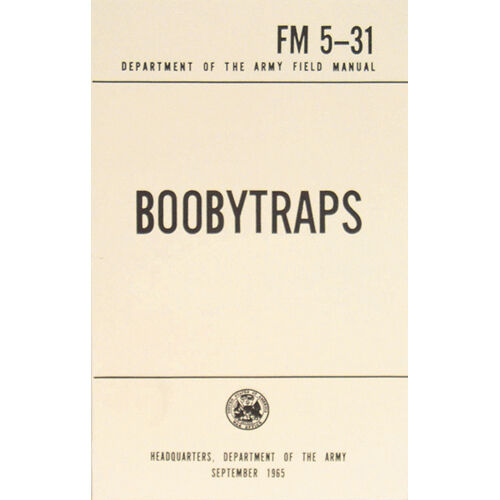 boobytraps new u s army field manual fm 5 31 september 1965 pages rh ebay com army field manual 7-93 army field manual 5-0