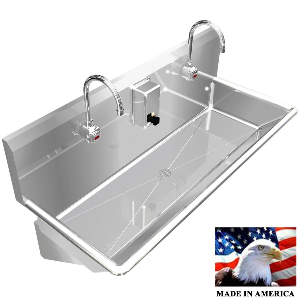 Wash Up Hand Sink Multistation 2 Users 42 Quot Elec Faucet
