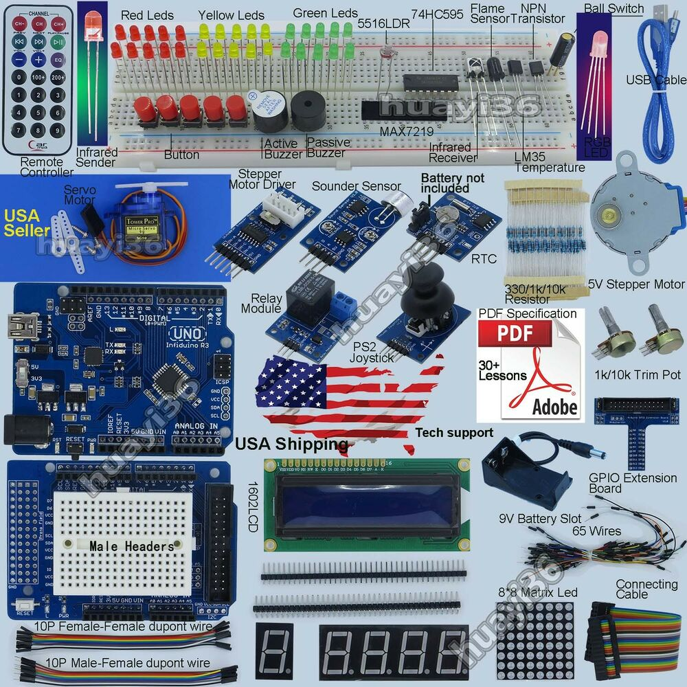New ultimate uno r starter kit for arduino lcd servo