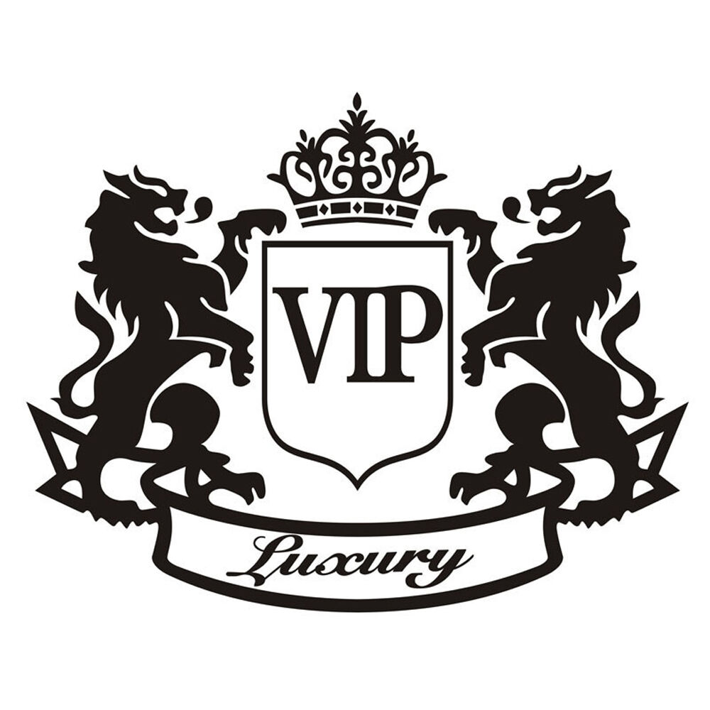 The lion vip luxury cartoon car sticker refective window Getting stickers off glass