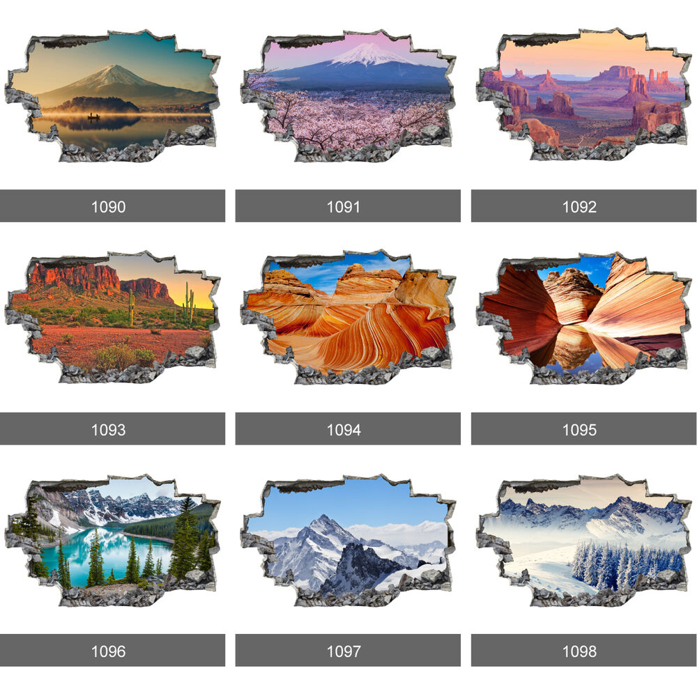Landscape grand canyon mountain lakeside 3d wall mural for Ebay 3d wallpaper