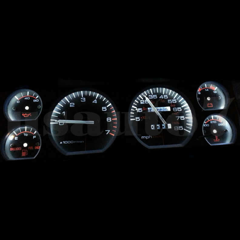 Details About New Dash Instrument Cer Gauge White Led Light Kit Fit 84 96 Jeep Cherokee Xj