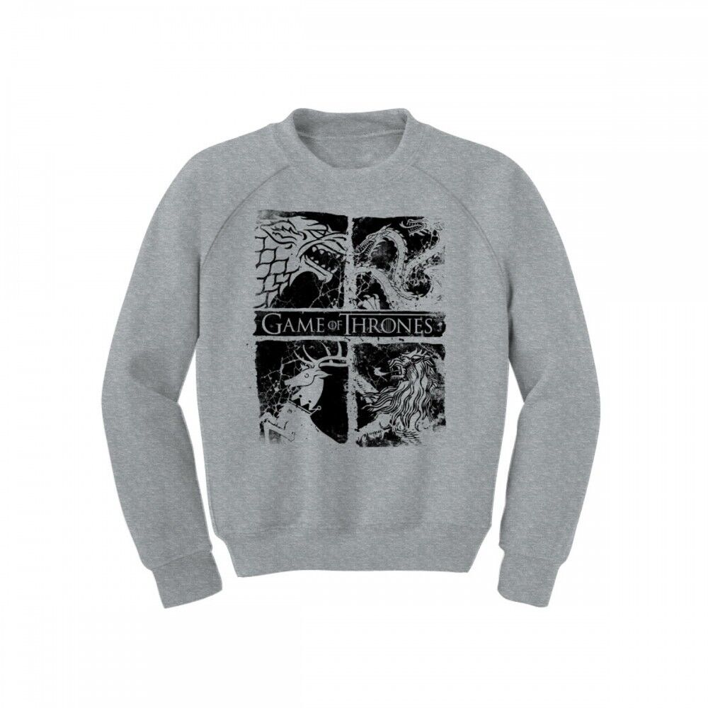game of thrones four house sigil crew neck sweater. Black Bedroom Furniture Sets. Home Design Ideas