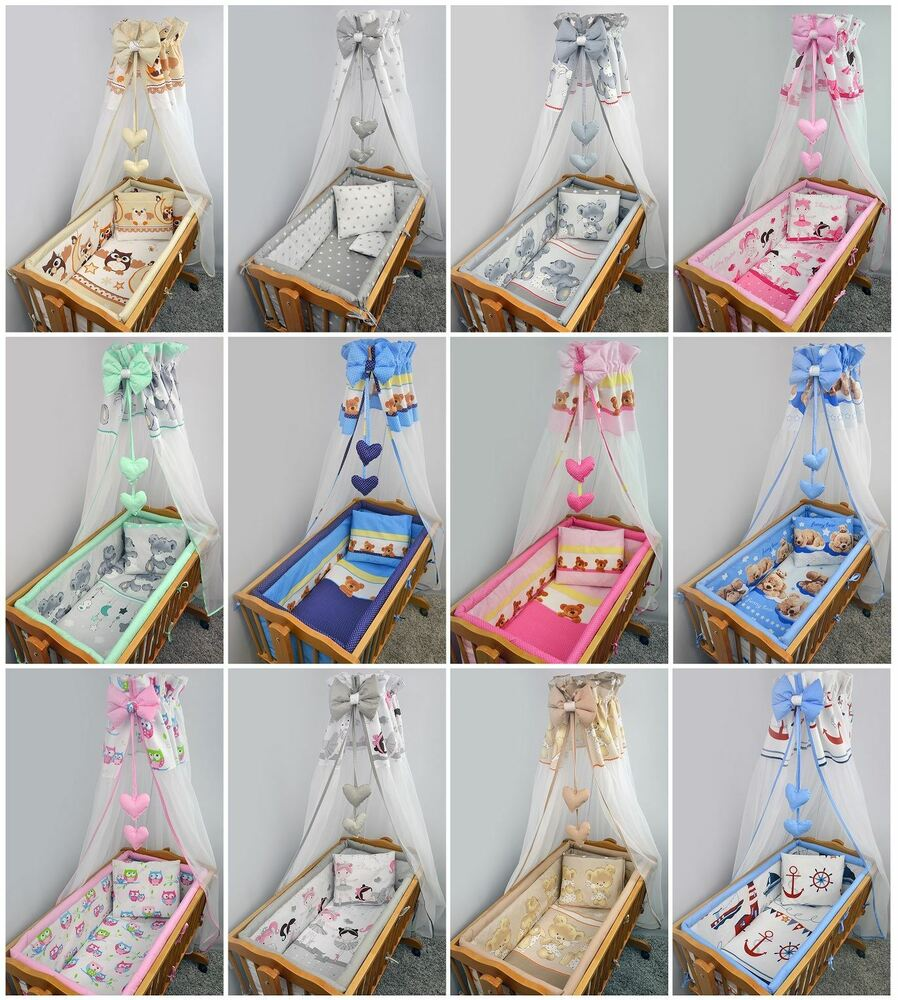8 Piece Nursery Baby Crib Bedding Set 90x40 Cm Fits