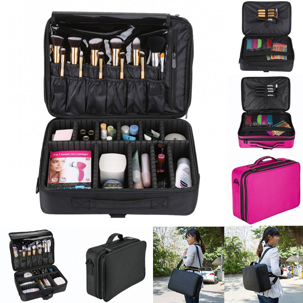 Makeup Bag Case Cosmetic Brush Pouch Storage Handle