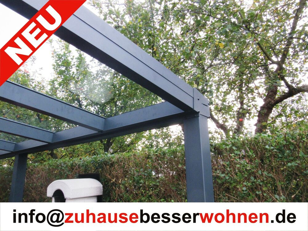 terrassen berdachung carport berdachung aluminium terrassendach vsg glas 4x3 5 ebay. Black Bedroom Furniture Sets. Home Design Ideas