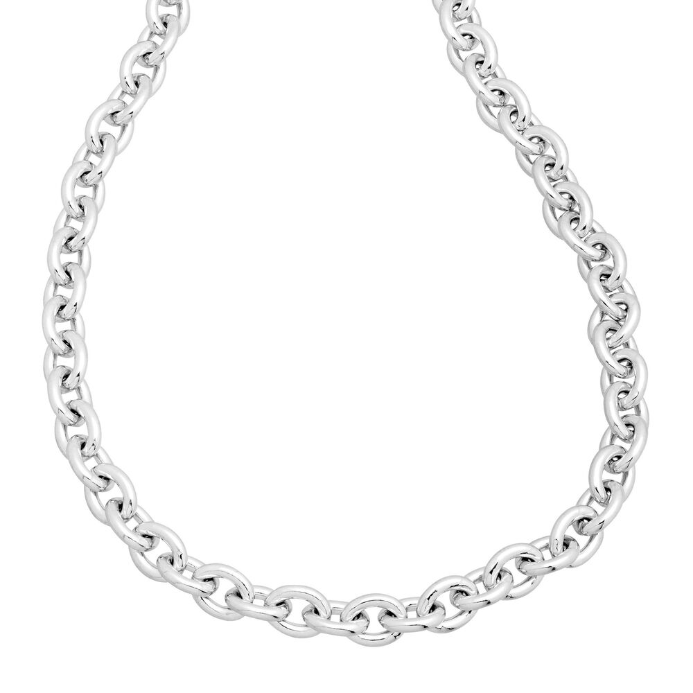Men S Cable Chain Necklace In Sterling Silver Ebay