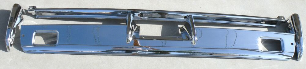 lincoln new triple plated chrome rear back bumper 1966. Black Bedroom Furniture Sets. Home Design Ideas