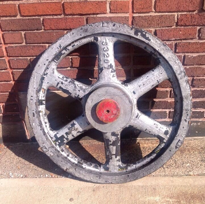 Antique Wheels And Gears : Antique industrial steampunk quot wooden foundry gear wheel