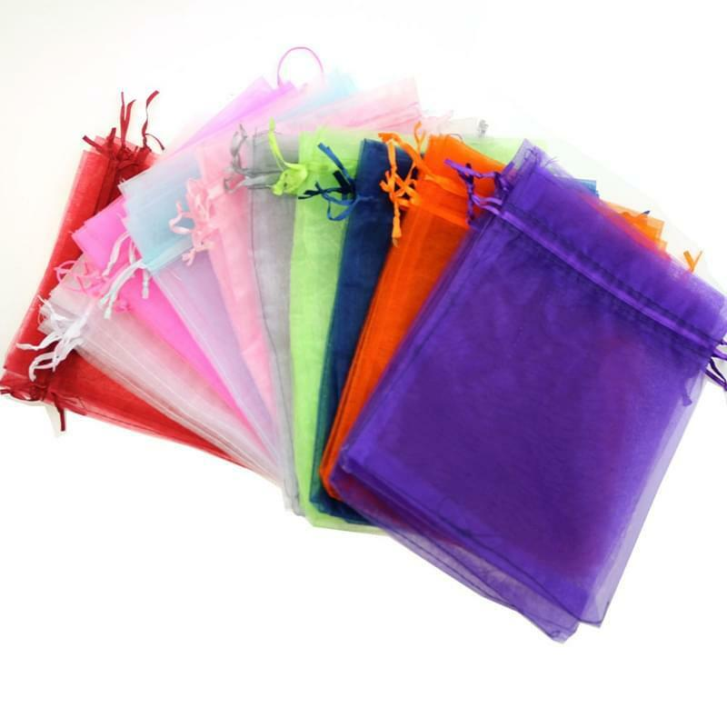 Wedding Gift Pouches: 25/50/100PCS Sheer Organza Wedding Party Favor Gift Candy