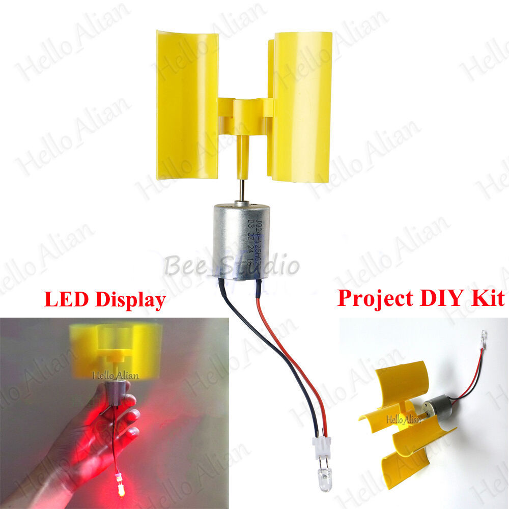 Diy Kit Small Dc Motor Vertical Micro Wind Turbines Blades