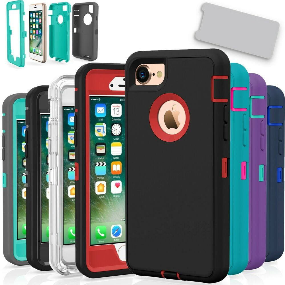 iphone 7 8 plus case cover protective hybrid rugged. Black Bedroom Furniture Sets. Home Design Ideas
