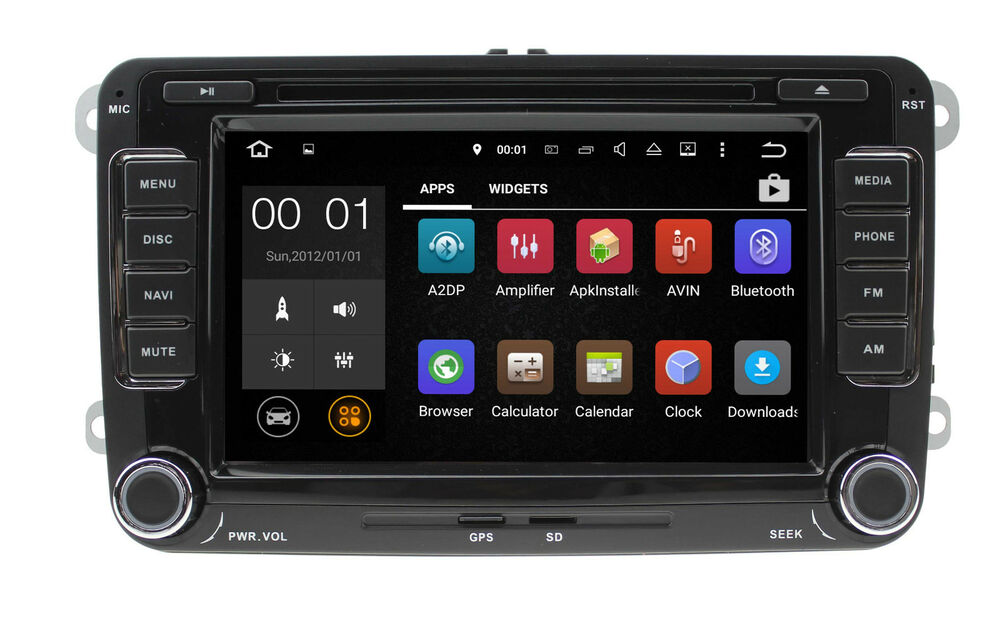 android dab autoradio f vw t5 mp3 seat skoda passat golf bluetooth gps dvd sd ebay. Black Bedroom Furniture Sets. Home Design Ideas