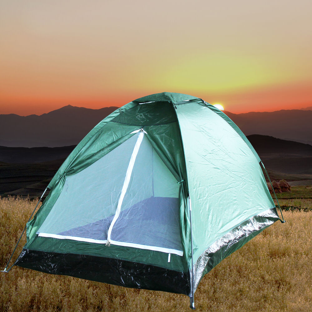 Hiking Camping: 2 Person Camping Hiking Backpacking Lightweight Tent Beach