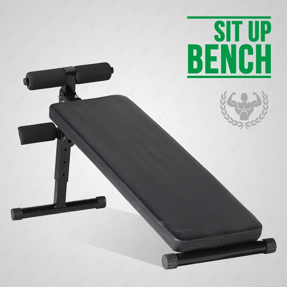 Adjustable Sit Up Bench Board Abdominal Crunch Fitness Workout Home Gym Exercise Ebay