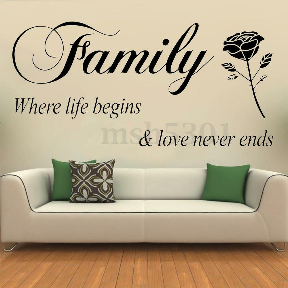 Free Shipping Family Is Vinyl Wall Lettering Quote Wall: Removable Quote Family Lettering Wall Stickers Vinyl Art