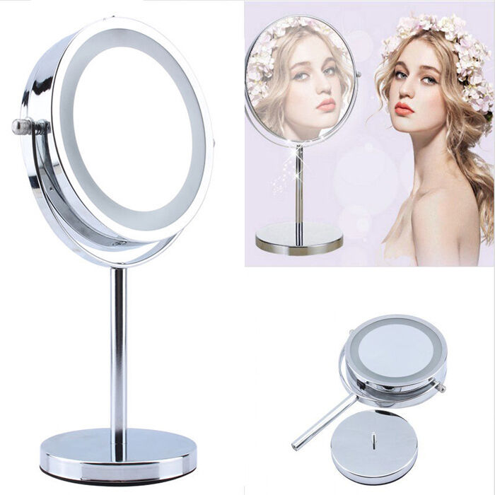 Lighted Makeup Cosmetic Vanity Mirror 5x Magnification