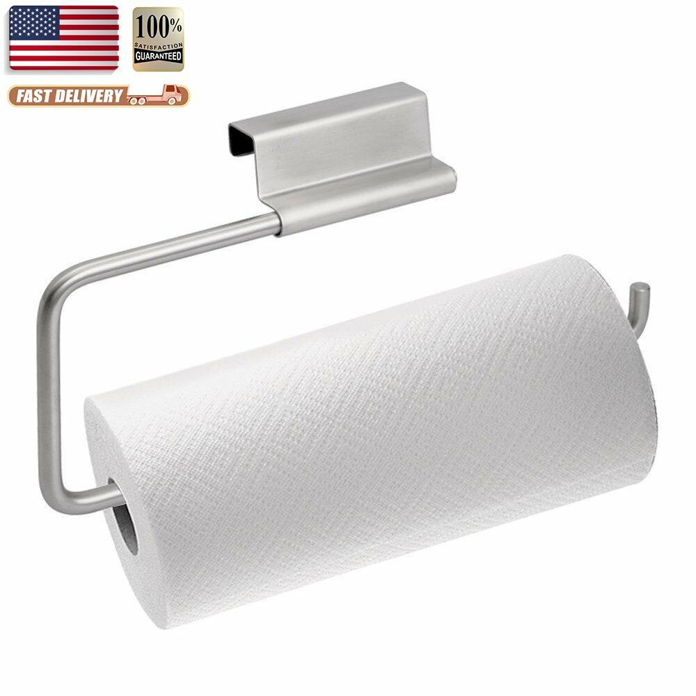 imiee axis chrome stainless steel over the cabinet paper towel holder new ebay. Black Bedroom Furniture Sets. Home Design Ideas