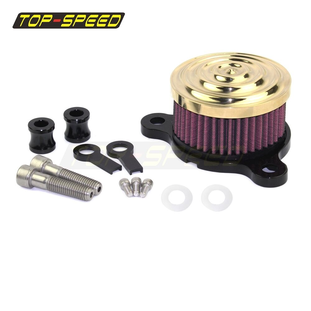 Chopper Air Cleaner : Brass motorcycle air cleaner filter intake kit for harley