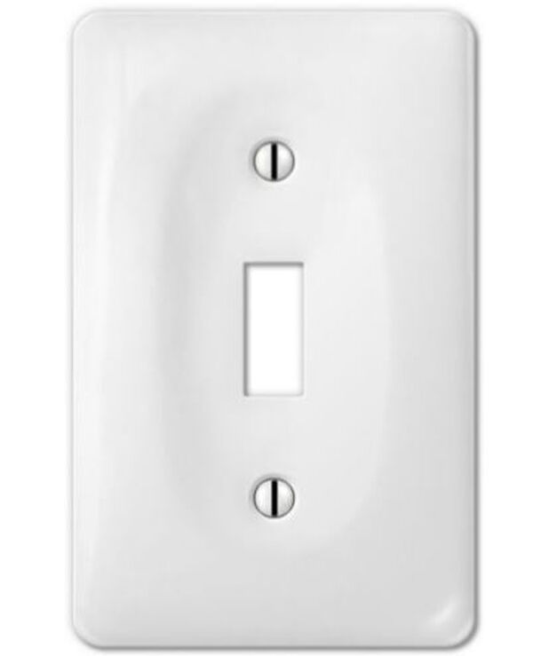 Porcelain decorative switch plate wall plate cover rectangular white 3002 ebay - Decorative switch wall plates ...