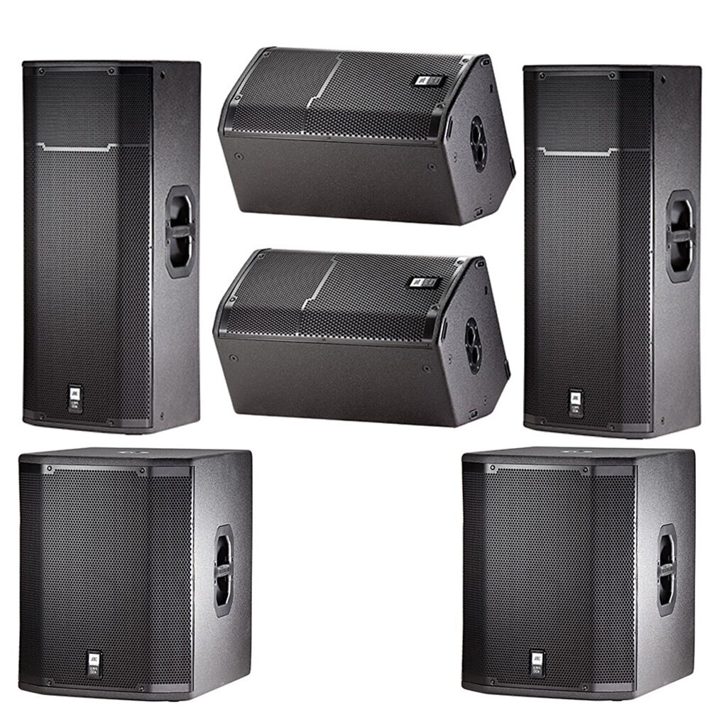 jbl prx passive dj pa speaker sub monitor system bundle prx425 prx412m prx418s ebay. Black Bedroom Furniture Sets. Home Design Ideas