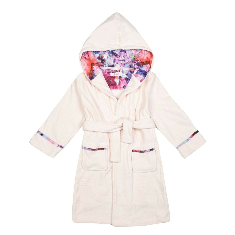 9e452f760 Details about Baker By Ted Baker Kids Girls  Light Pink Debossed Logo  Dressing Gown